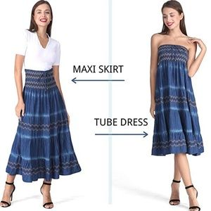 🆕 Cotton A-Line Tiered Skirt/Tube Dress